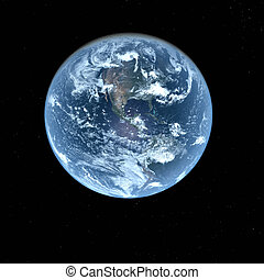 3d Earth Model with black background - 3d Earth Model in...