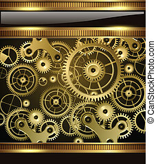 Abstract background - Abstract technology background gold...