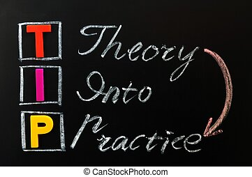 Acronym of TIP - Theory into Practice - Acronym of TIP on a...