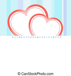 vector valentine love heart romantic birthday background