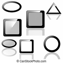 Set blank icons, buttons and frames