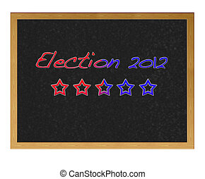Election USA 2012. - Isolated blackboard with Election USa...