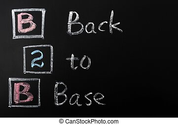 Acronym of B2B - Back to Base