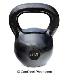black shiny heavy kettlebell - black shiny 35 lb iron...