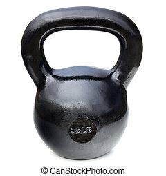 black shiny heavy kettlebell - black shiny 35 lb iron...