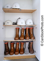 Safety helmets and boots