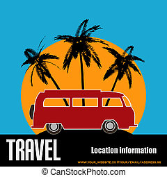 Tropical Camper Van Background