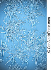 Natural Icicle frost crystals on windows - Natural Icicle...