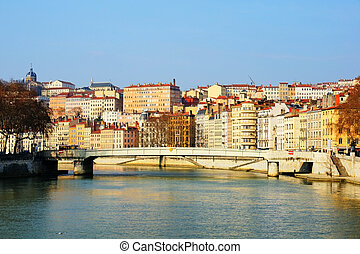 Early morning on the Saone river - First morning light on...