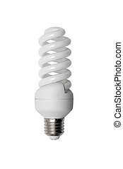 Energy saving bulb. Isolated image.