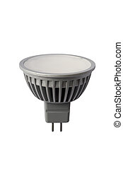 LED energy safing bulb. GU5.3. Isolated object - LED energy...