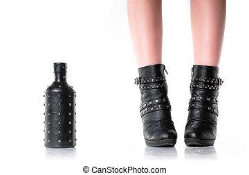 Dark Feet and Bottle