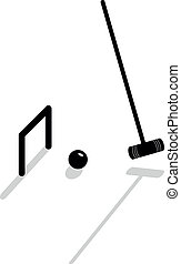croquet - Vector icon to play croquet equipment
