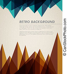 Vector grunge retro background template with place for your...