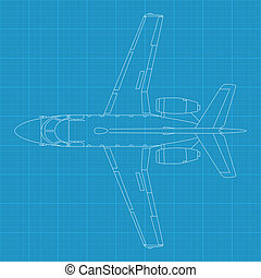 Aerospatiale Corvette - high detailed vector illustration of...