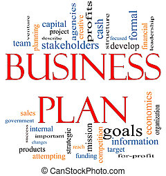 Business Plan Word Cloud Concept with great terms such as...