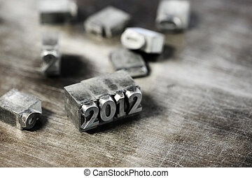 Block letters: new year 2012