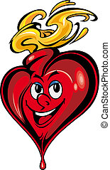 Smiling cartoon heart