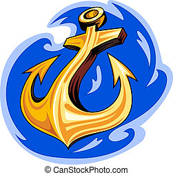 Sailorr tattoo - Sailor tattoo - ancient anchor in ocean...