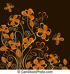 Abstract floral background - Colorful abstract floral...