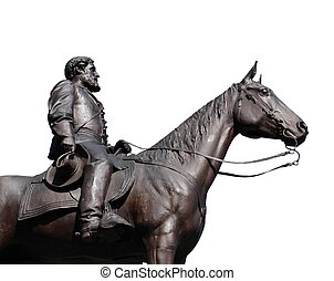 robert e lee monument - isolated robert e lee monument at...