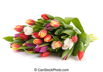 Colorful bouquet tulips - Beautiful bouquet with colorful...
