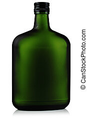 Liquor in the green glass bottles