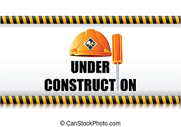 Hard Hat with Screw Driver