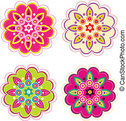 Flower set - Stock Vector Illustration: