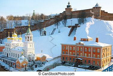 Church of the Nativity of St. John the Baptist and Kremlin Nizhny Novgorod