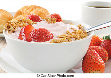 Healthy low fat breakfast - A healthy breakfast of...