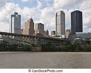 Pittsburgh Pennsylvania Waterfront - Pittsburgh Pennsylvania...