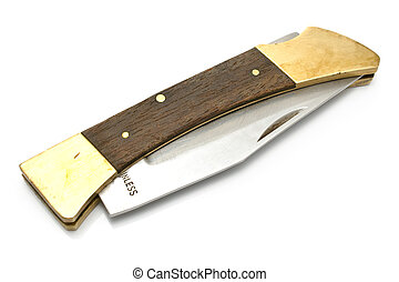 Pocket knife isolated on white