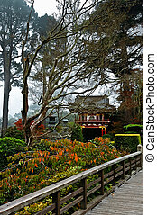 The Japanese Tea Garden in the Golden Gate Park, San...