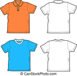 Shirts - polo-shirt and t-shirt - back and front