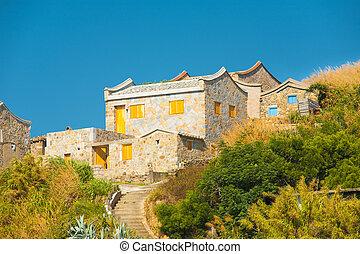 tradycyjny, Matsu, Fujian, dom, H