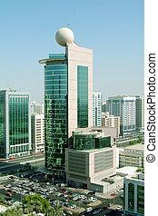 Abu Dhabi City - Aeriel view of Abu Dhabi City. Abu Dhabi is...