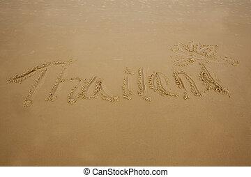 Thailand In Sand
