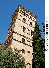 La Zuda Tower (or Azuda) in Zaragoza