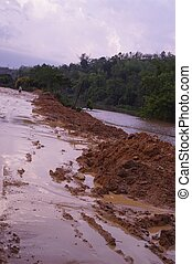 Landslide - Deforestation and heavy rains of the monsoon...