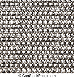 armor from steel rings isolated on white