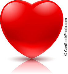 Red Heart - Big Red Heart. Illustration on white background