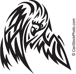 Eagle in tribal style - vector illustration - vector...