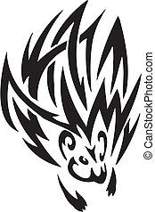 porcupine in tribal style - vector illustration - vector...