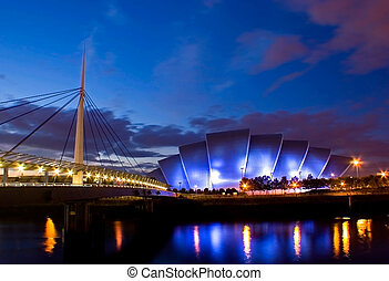 GLASGOW 104 - The Armadillo concert hall with Bells Bridge...