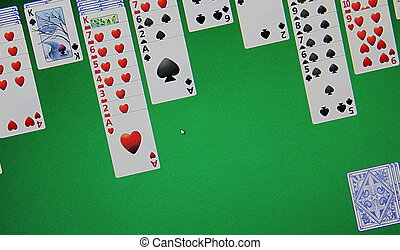 Solitaire  - Solitaire on the computer monitor