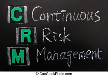 Acronym of CRM - Continuous Risk Management