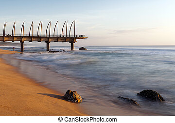 Umhlanga pier in the morning light