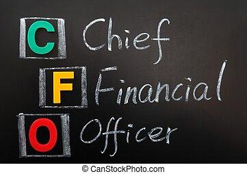 siglas, Cfo, -, jefe, financiero, oficial