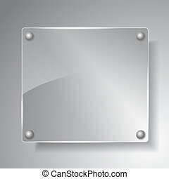 Square glass board